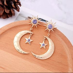 🌛NEW BOHEMIAN CELESTIAL ENGRAVED EARRINGS